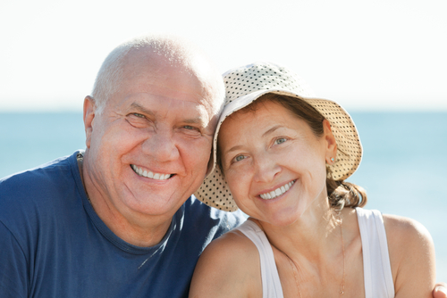 denture - old couples